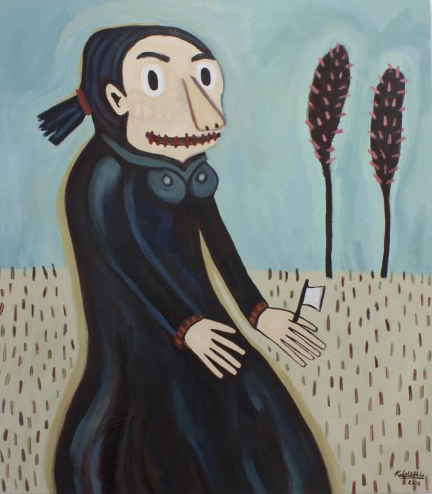 Karlien de Villiers_Babe in the woods_2013_Oil on Canvas_90 x 100cm