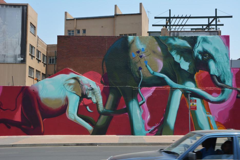 South African graffiti artist Falko