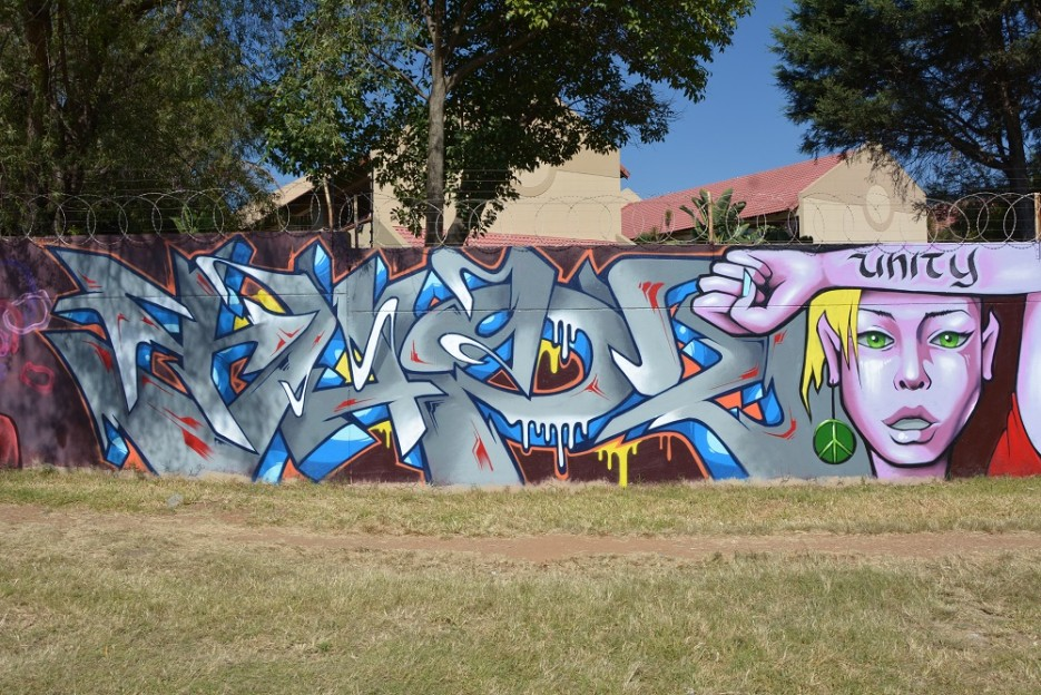 Tapz graffiti artist from South Africa