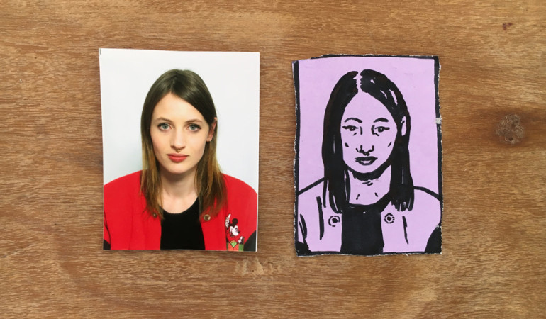 Tyla Mason Turns Lacklustre ID Photos into Endearing Hand Drawn Portraits