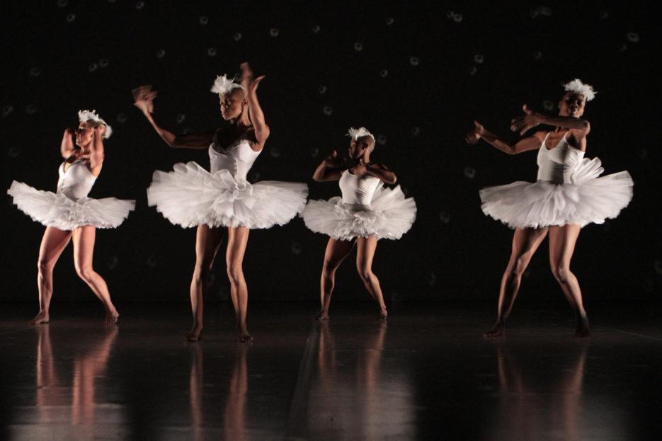 Dada Masilo's 'Swan Lake' as previewed at the Dance Factory in Newtown, Johannesburg.     Photograph: John Hogg.