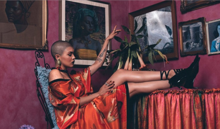 Bad and boudoir – Lady Skollie is the face of Marianne Fassler's latest campaign