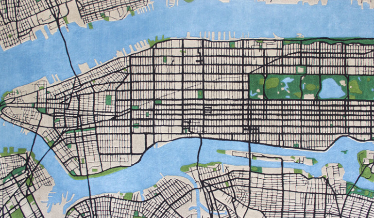 Cape Town designer creates 3D carpets inspired by New York City maps