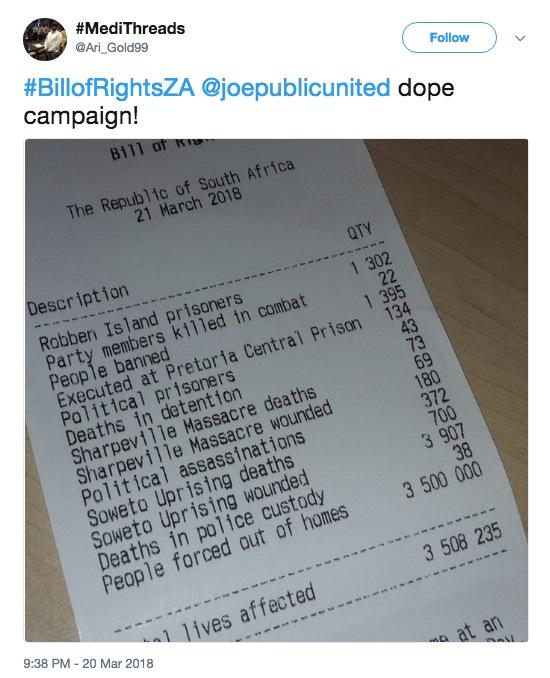 Apartheid Museum's #BillOfRightsZA initiative gets people talking