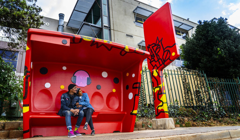 Joburg owns the moment by transforming city bus shelters
