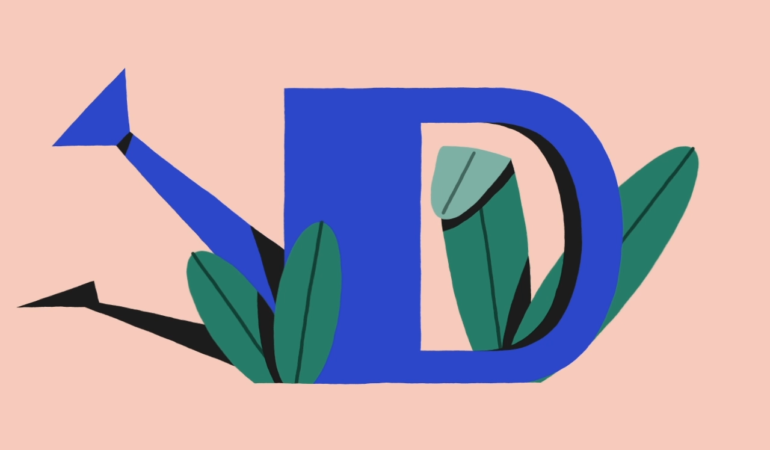 French illustrator, Adrien Ghenassia's contribution to the 36 Days of Type project