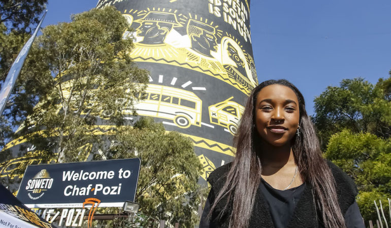 Karabo Moletsane Shows off Artistic Flair on Soweto's Twin Towers