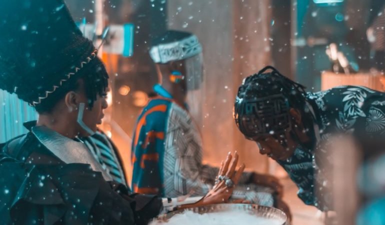 Nadia Nakai and Frank Casino in Money Calling music video
