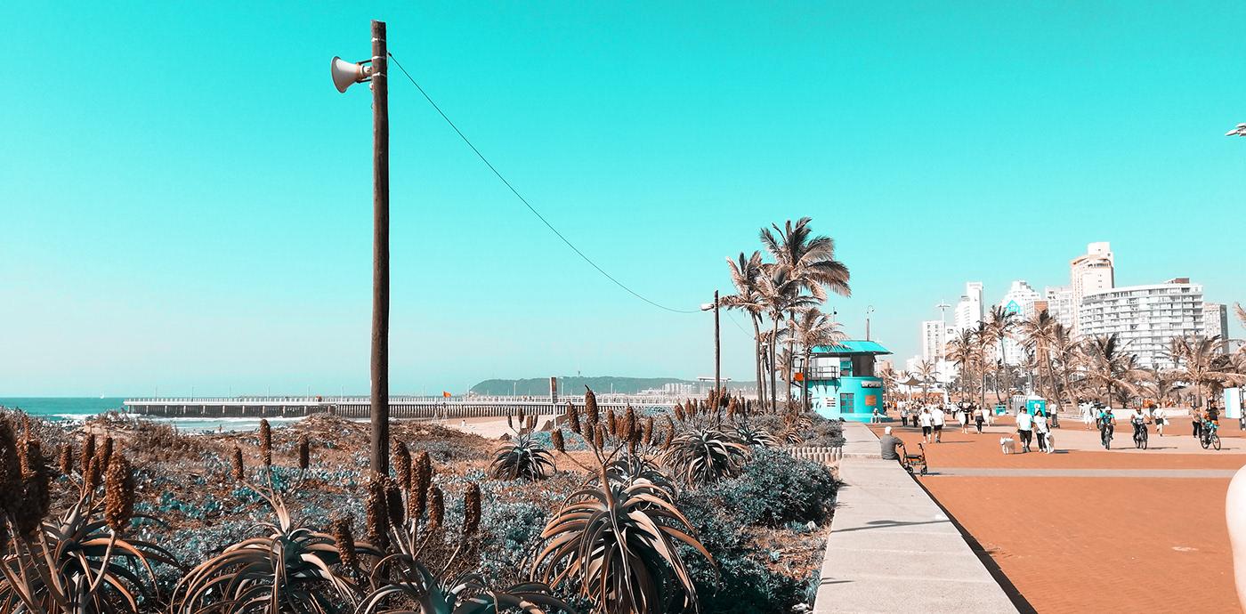 the durban beach front promenade