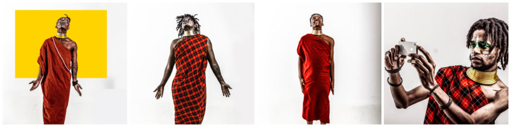 the future africa members in traditional clothing in different poses