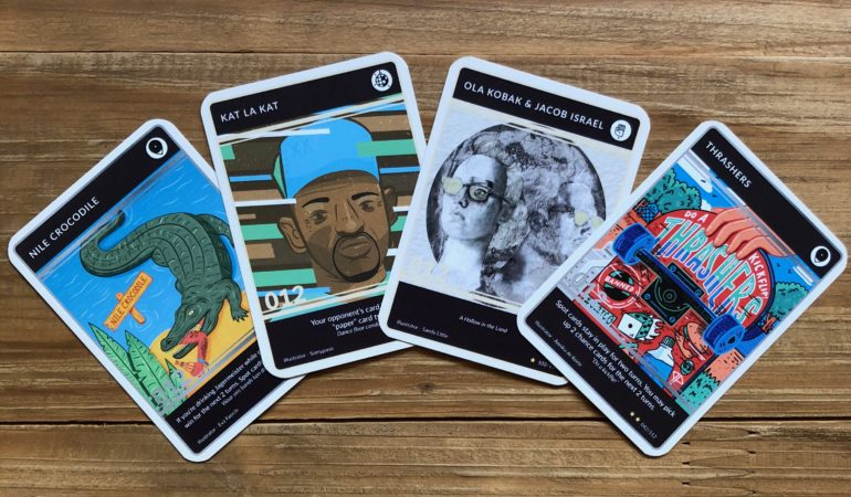 A card game celebrating the game changers of Pretoria