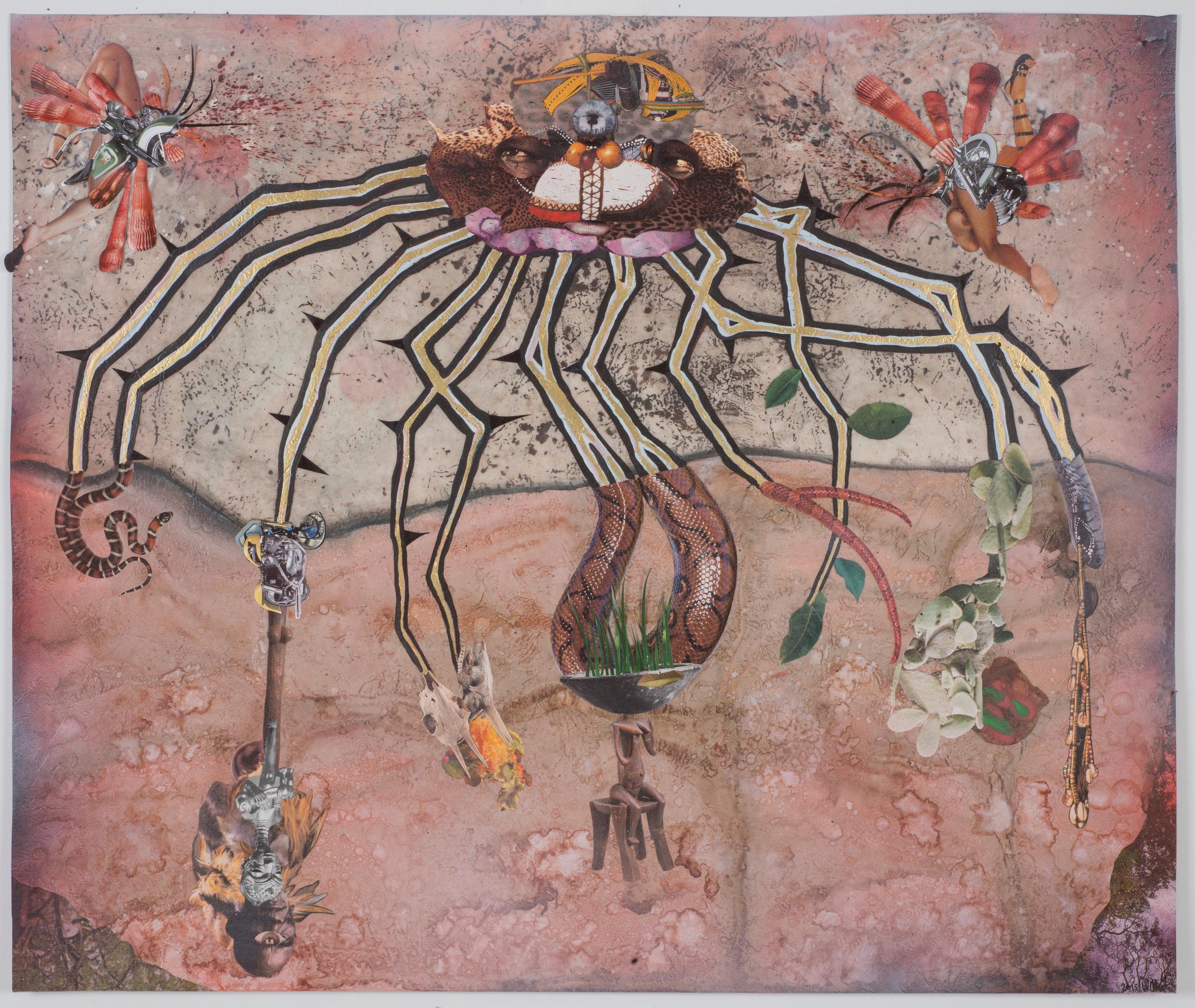 An Afrofuturism Creature by Wangechi Mutu