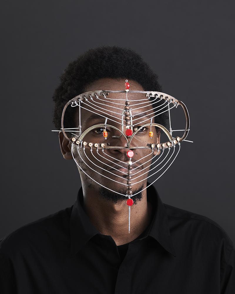 Cyrus Kabiru wearing one of afrofuturism pieces of eyewear