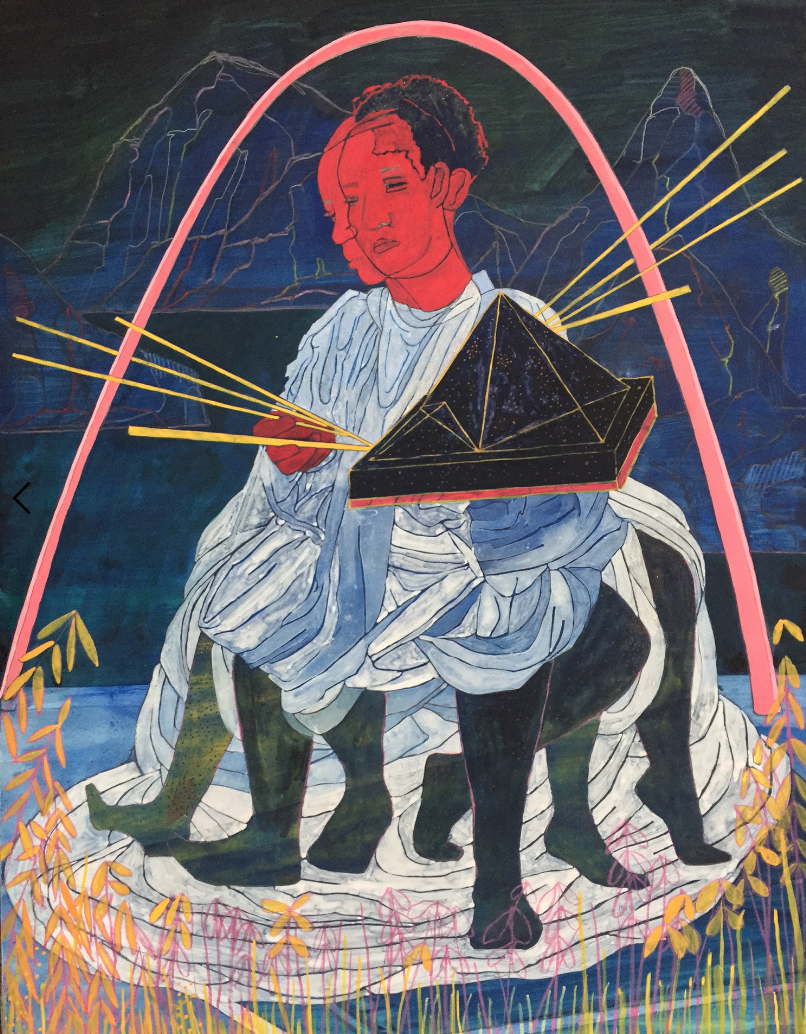 a afrofuturism Figurative Piece of Children by Pamela Phatsimo Sunstrum