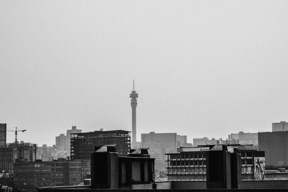 Photograph of the johannesburg city scape by Lonwabo Zimela