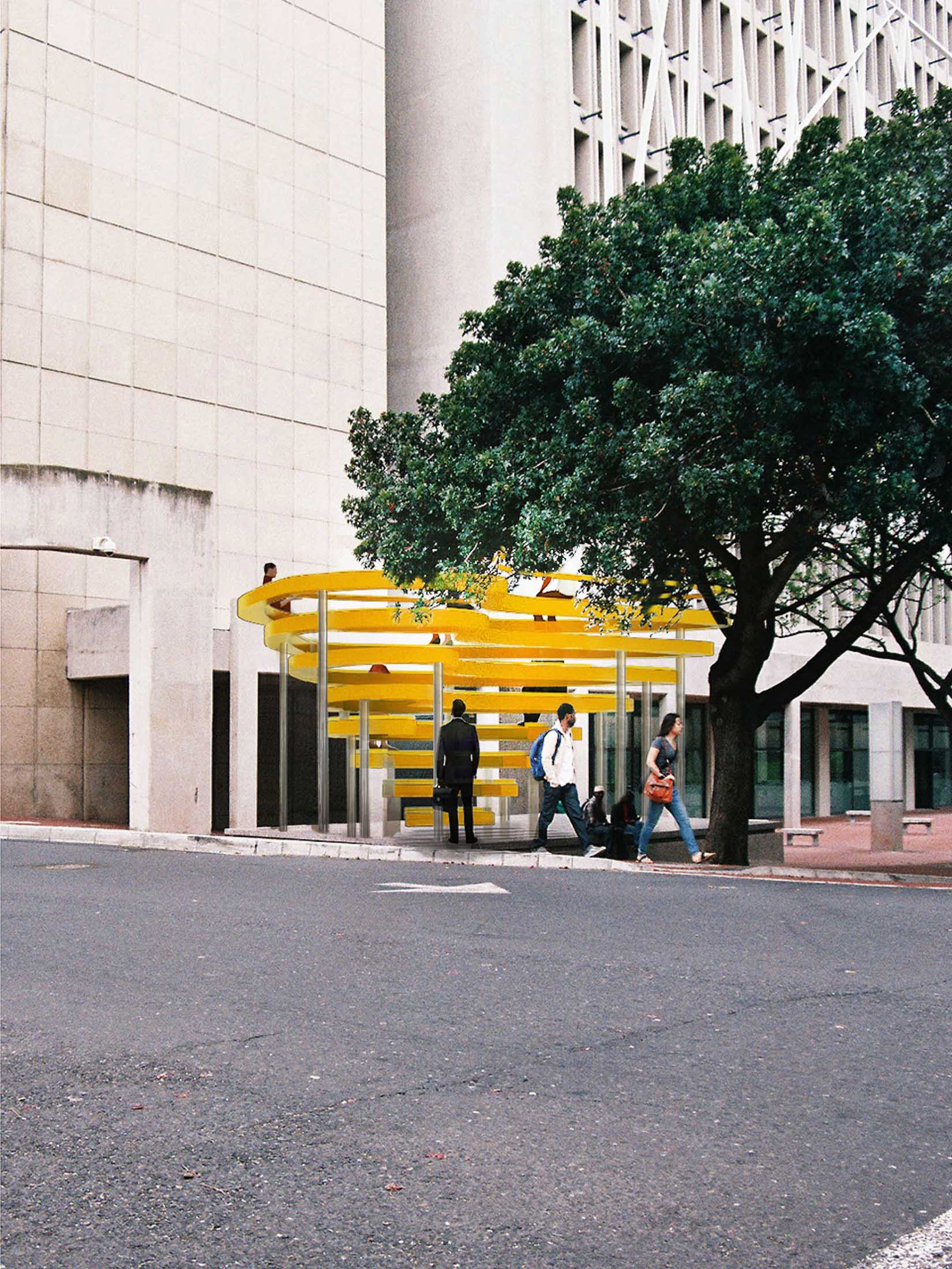 The People's Sculpture concept on long street
