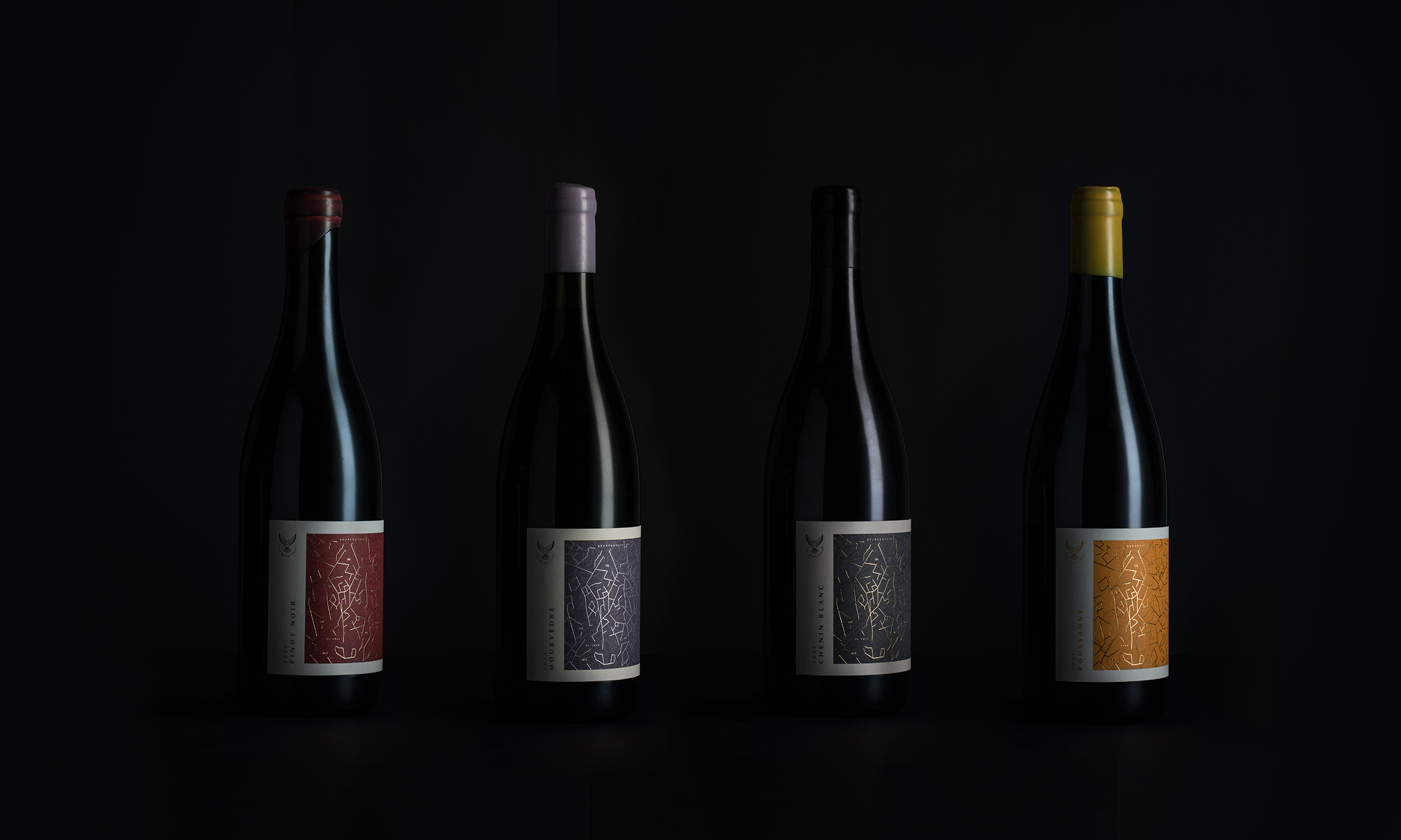 Wine Bottles with Studio Collective branding