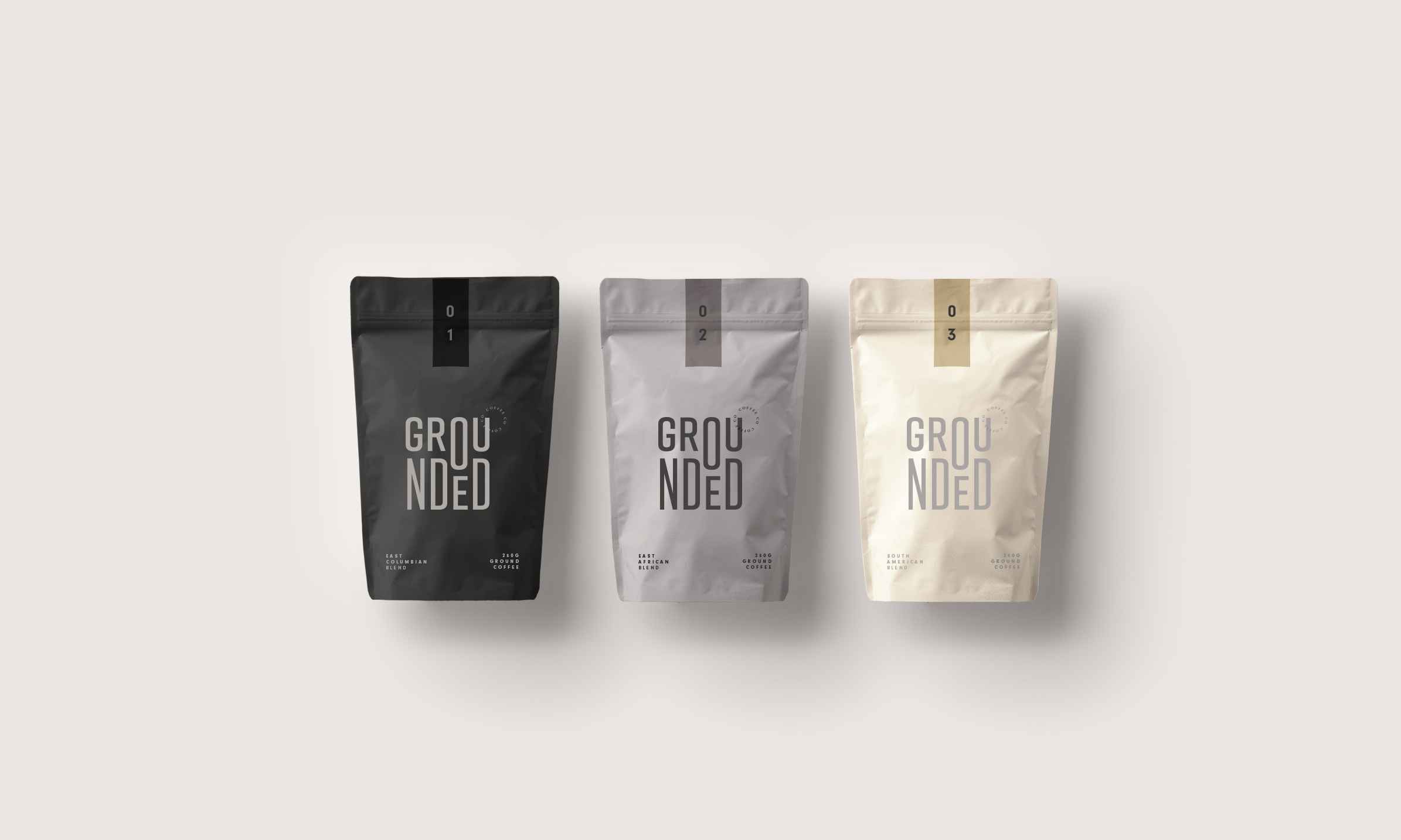 Grounded Coffee Label Range from Studio Collective