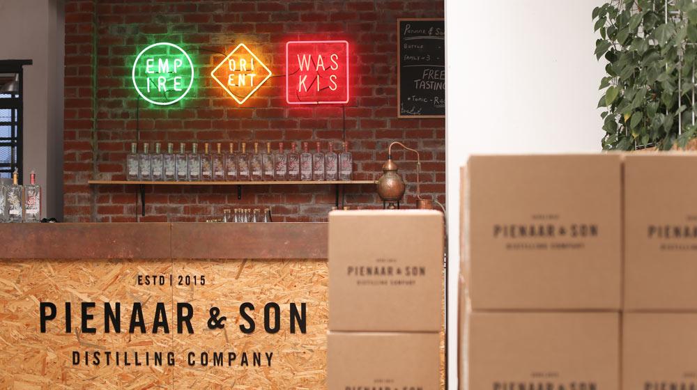 The interior of Pienaar and Son Distillery