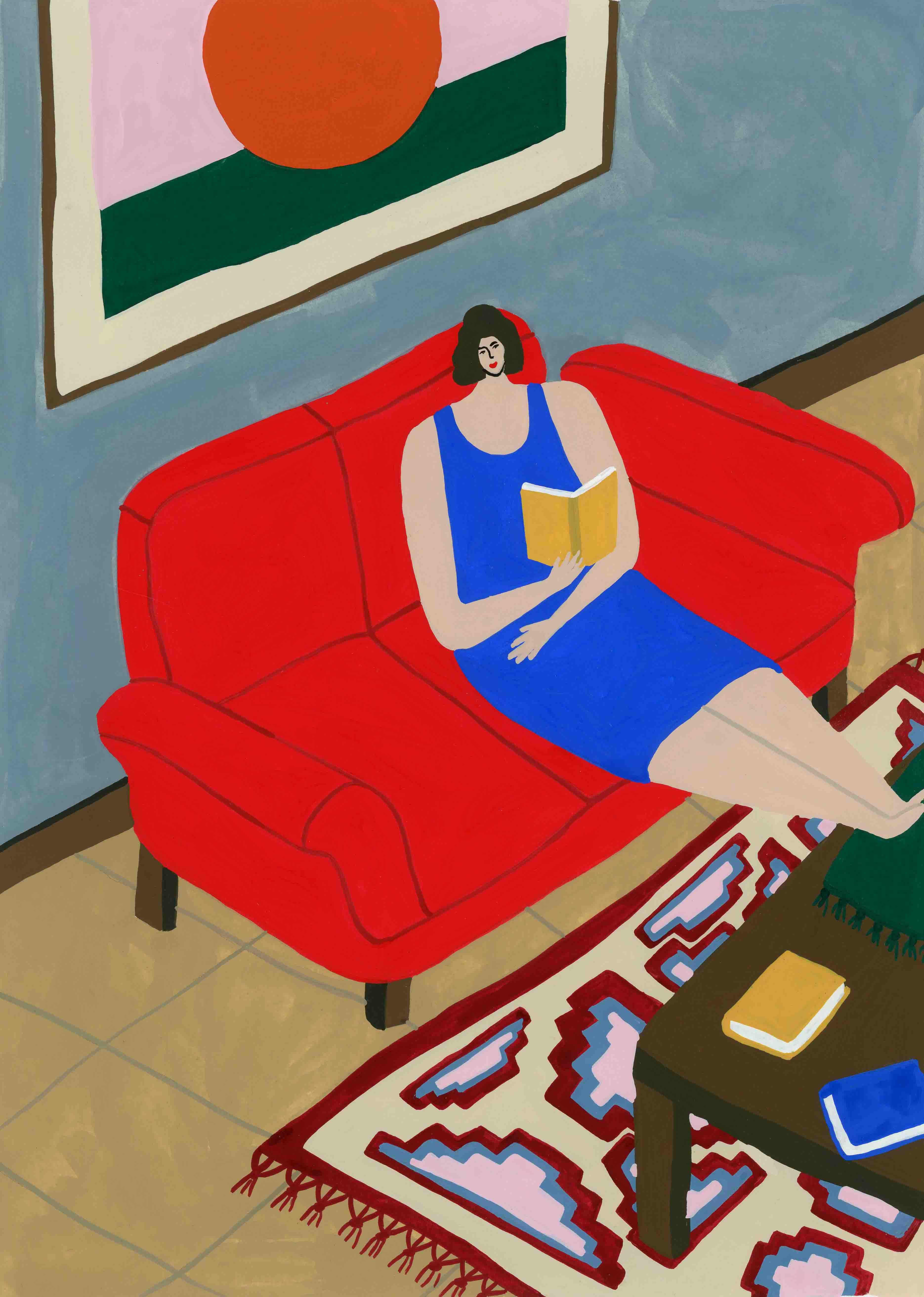 Mother on Couch by Tara Deacon