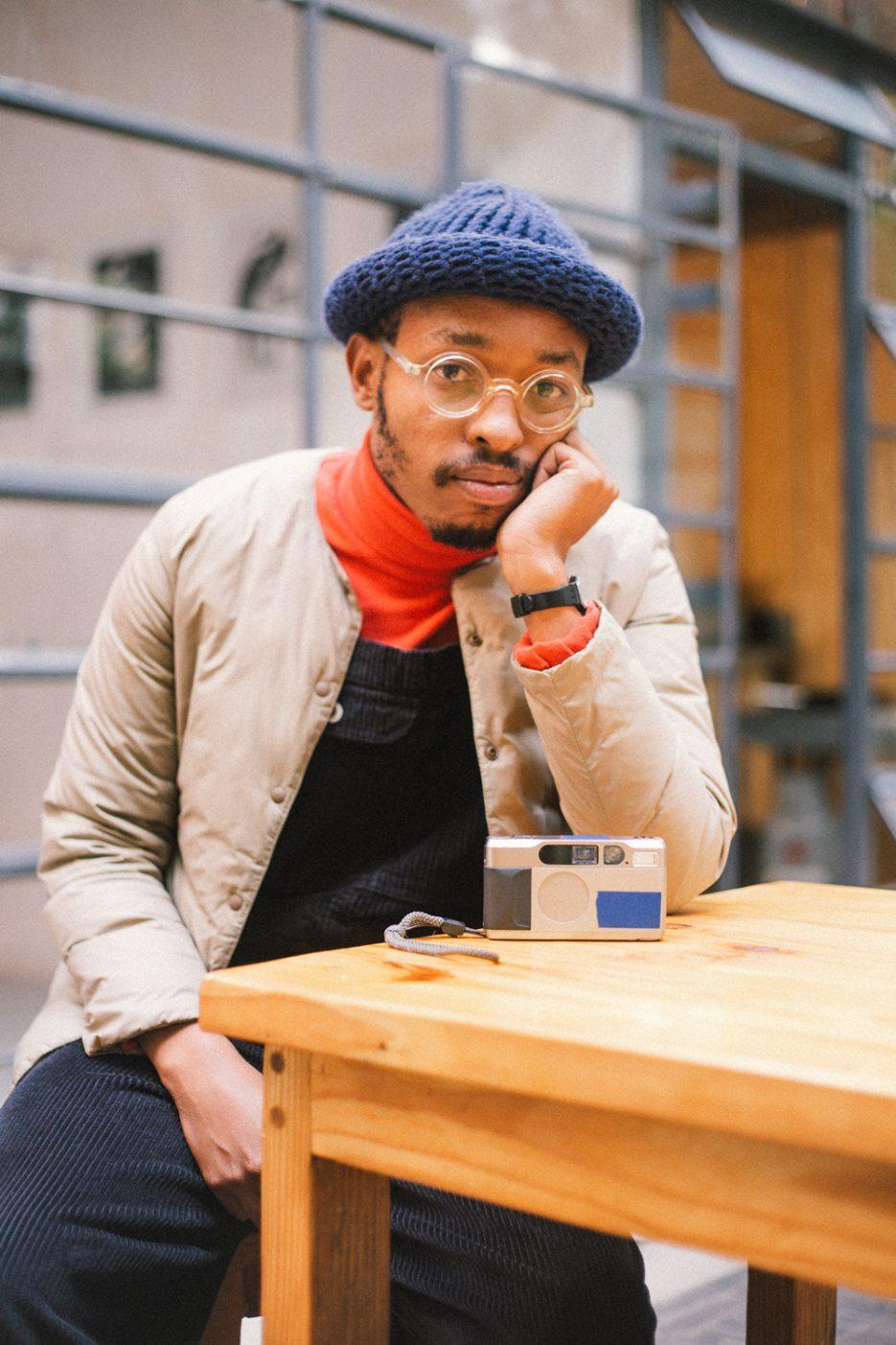 Photographer Andile Buka. Image by Khotso Tsagaane.