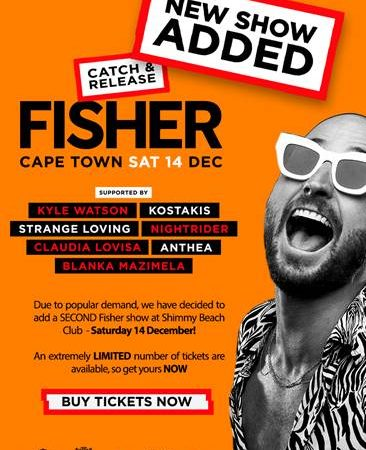 Catch International Headliner & Grammy Award Nominated Artist, Fisher at Shimmy Beach Club