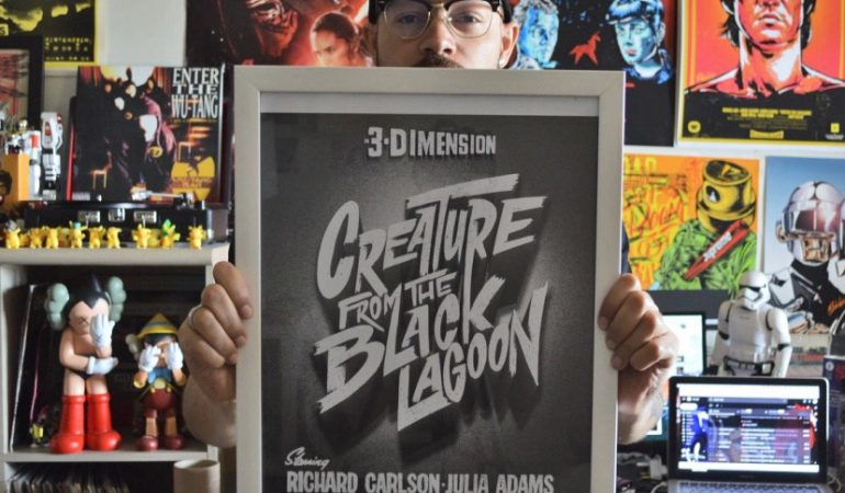 Illustrator & Custom Letterer Keith Vlahakis Designed A Rad Typographic Title Poster Series for Halloween