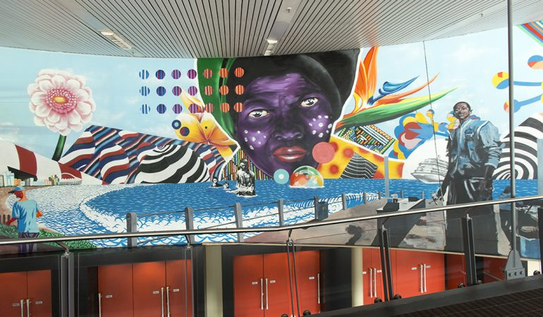 WATCH: Six Artists Paint a Mural at Durban ICC ahead of Africa Travel Indaba