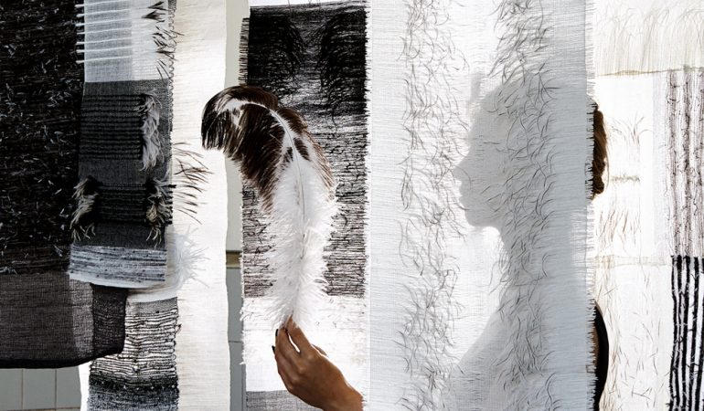 Pascale Theron Enhances the Value of Ostrich Feathers Through 'Feathered Fabrics' Project