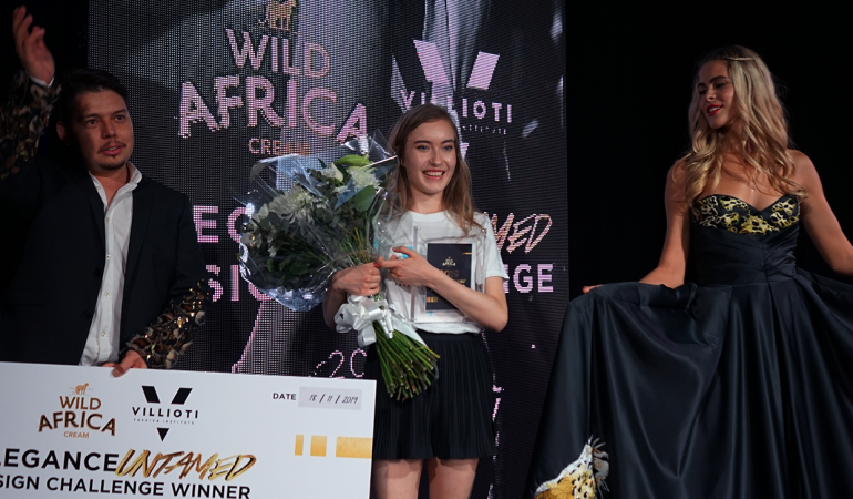 First Year Villioti Fashion Institute Student, Aimee Foord Wins the Elegance Untamed Design Challenge