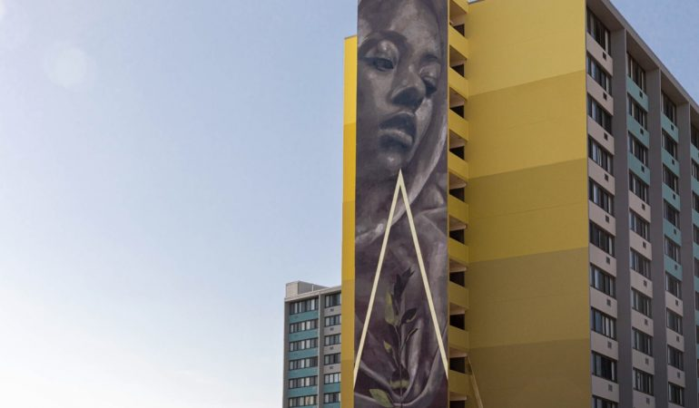 Faith XLVII Creates 'The Silent Watcher' Her Largest Mural To Date