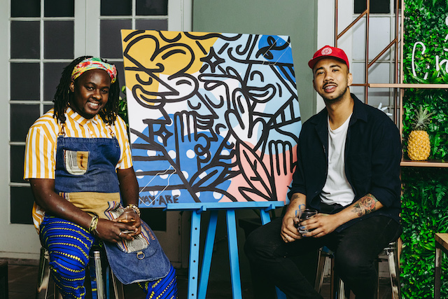 Russell Abrahams & Peter Lebese create the 'Ultimate Kaapse Bliss' with Bombay Sapphire