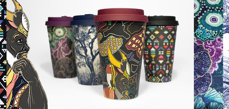 Wanderland Collective  Artists x Ecoffee Cup Collaboration Promotes Environmental Sustainability