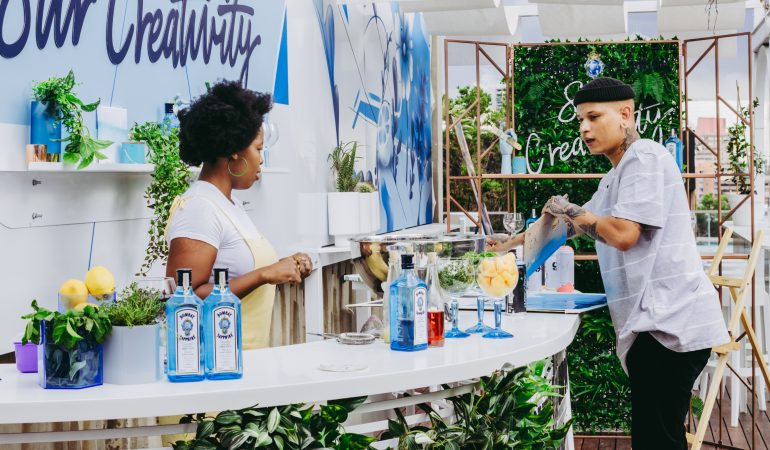 Nkuli Khanyile Stirs Joburg's African Ginger with Bombay Sapphire to create Brushes of Flower