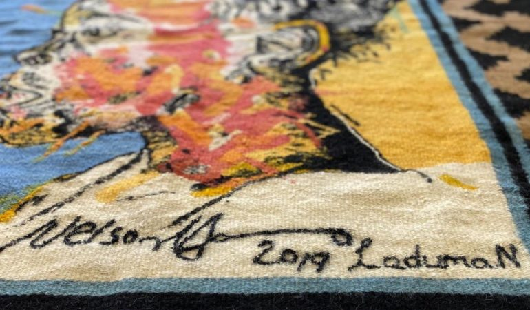 Laduma Ngxokolo x Nelson Makamo Tapestry Piece Auctioned at R670K to Assist Local SMME's