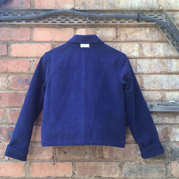 Canvas Jacket, Back- Indigo