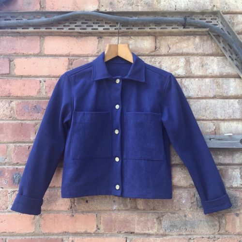Canvas Jacket- Indigo