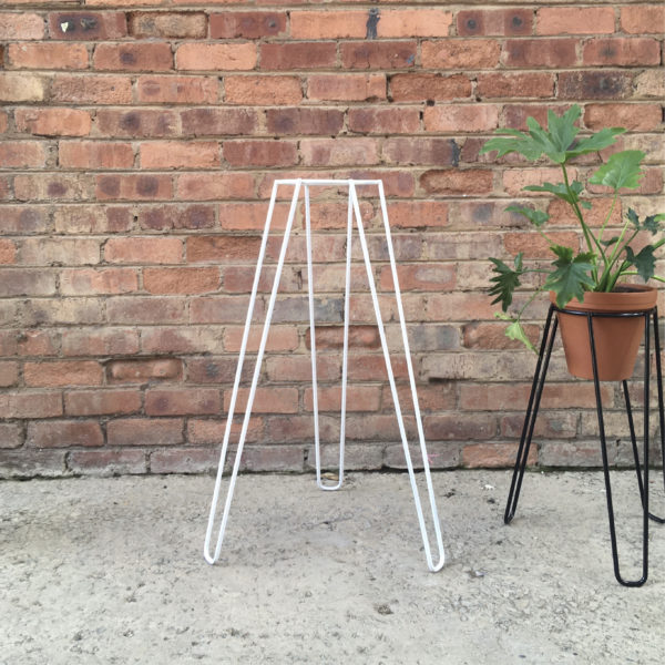 Plant Stand Tall White