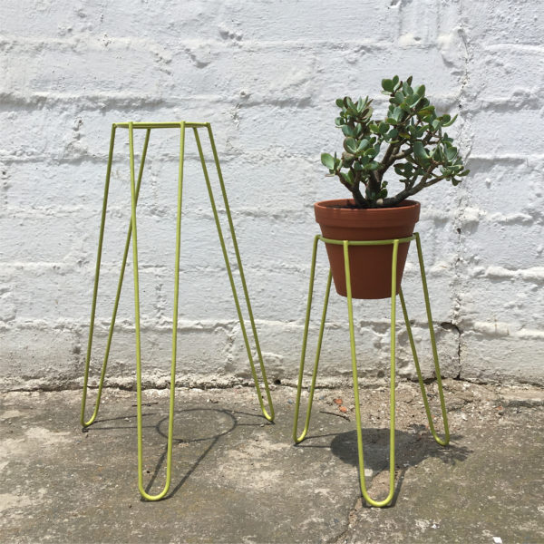 Plant Stand Chartreuse Tall & Short