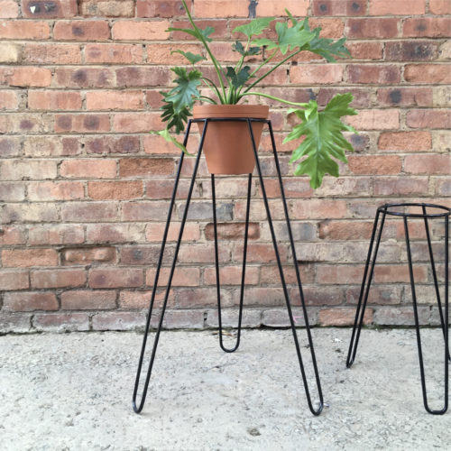 Plant Stand Tall Black