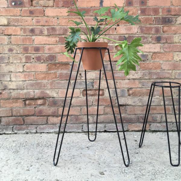 Plant Stand Tall Black