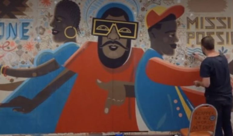 Artist Wesley van Eeden creates epic mural at Durban taxi rank