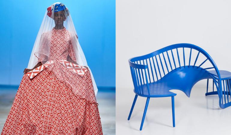 Imprint Bridal Dress by Mzukisi Mbane; Interdependence II by Houtlander,